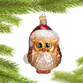 Santa Owl Ornament