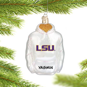 Louisiana State University (LSU) Hoodie Sweatshirt Ornament