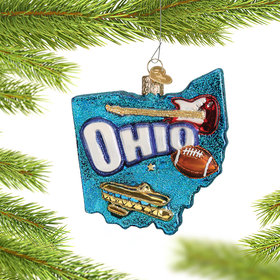 State of Ohio Outline Ornament