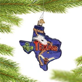 State of Texas Outline Ornament