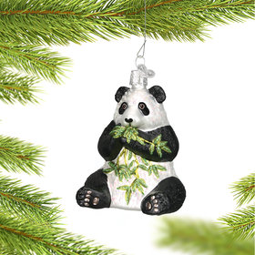 Panda with Bamboo Ornament