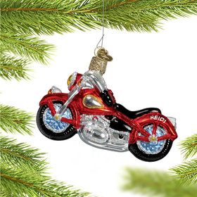 Red Motorcycle Ornament