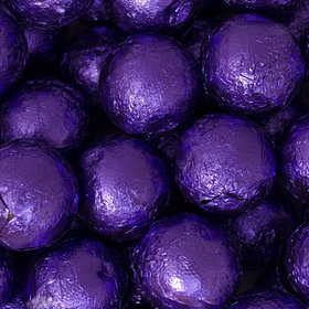 Purple Caramel Filled Foil Balls