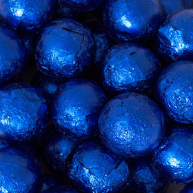 Royal Blue Caramel Filled Foil Balls