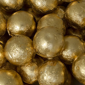 Gold Caramel Filled Foil Balls
