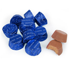 Just Candy Royal Blue Foil Peanut Butter Cups