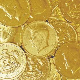 Half Dollar Chocolate Gold Coins