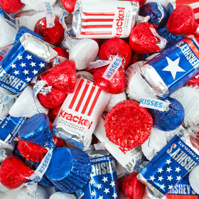 Patriotic Mix Hershey's Miniatures, Kisses and Reese's Peanut Butter Cups