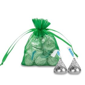 Extra Small Emerald Organza Bag - Pack of 12