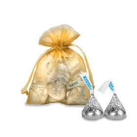 Extra Small Gold Organza Bag - Pack of 12