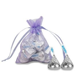 Extra Small Lavender Organza Bag - Pack of 12