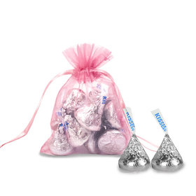Extra Small Pink Organza Bag - Pack of 12