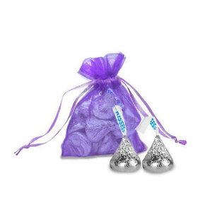 Extra Small Purple Organza Bag - Pack of 12
