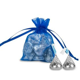 Extra Small Cobalt Organza Bag - Pack of 12