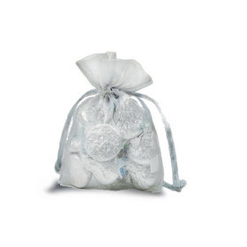 Extra Small Silver Organza Bag - Pack of 12