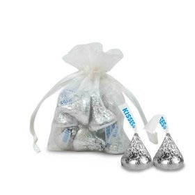 Extra Small White Organza Bag - Pack of 12