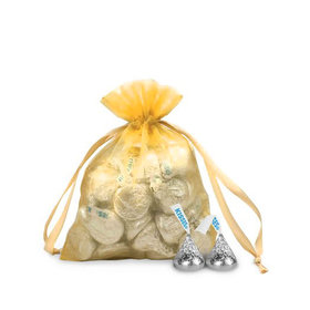 Small Gold Organza Bag - Pack of 12
