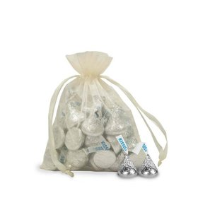 Small Ivory Organza Bag - Pack of 12