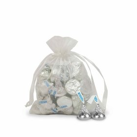 Small White Organza Bag - Pack of 12
