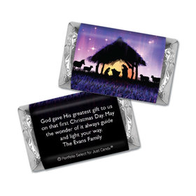 Personalized Christmas Holy Night Hershey's Miniatures