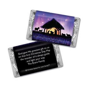Personalized Christmas Holy Night Mini Wrappers Only