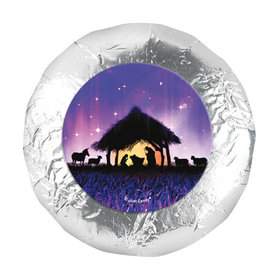 """Christmas Holy Night 1.25"""" Stickers (48 Stickers)"""