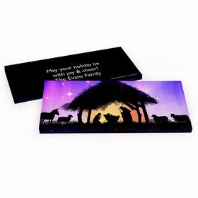 Deluxe Personalized Christmas Holy Night Chocolate Bar in Gift Box