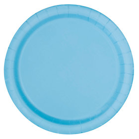 Light Blue Cake Plates (20 Count)