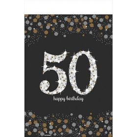 Sparkling Celebration 50th Table Cover (each)
