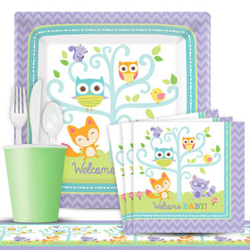 Woodland Welcome Deluxe Party Kit Serves 8