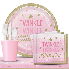 Twinkle Twinkle Little Star Pink Deluxe Party Kit Serves 8 Party Kit Serves 8