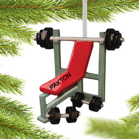 Workout Bench Press Ornament