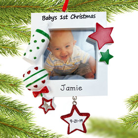 Baby's First Picture Frame Ornament with Star Ornament