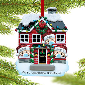 Quarantine Family of 3 Ornament