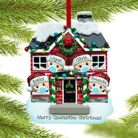Quarantine Family of 4 Ornament