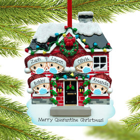 Quarantine Family of 5 Ornament