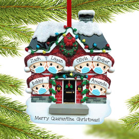 Quarantine Family of 6 Ornament