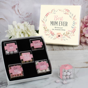 Personalized Mother's Gift Best Mom Ever Personalized Premium Gift Box with 5 JUST CANDY® favor cubes