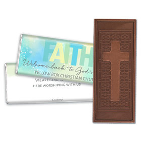 Personalized Religious Candy Faith Welcome Back Embossed Chocolate Bar