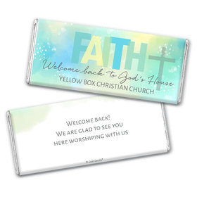 Personalized Religious Candy Faith Welcome Back Chocolate Bar & Wrapper