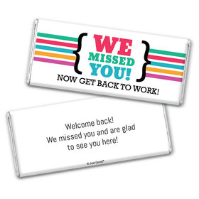 Personalized We Missed You Chocolate Bar & Wrapper