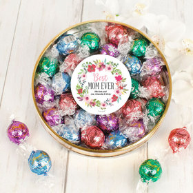 Personalized Mother's Gift Large Plastic Tin with Lindt Truffles (24pcs)