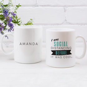 Personalized Social Distancing 11oz Mug Empty
