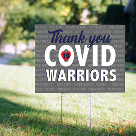 Covid Warriors Yard Sign