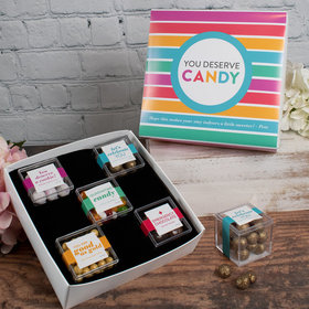 Personalized Care Package Premium Gift Box with 5 JUST CANDY® favor cubes