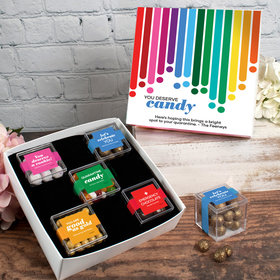 Care Package Personalized Premium Gift Box with 5 JUST CANDY® favor cubes