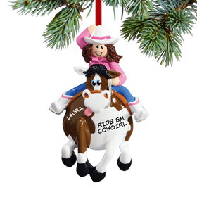 Cowgirl on a Horse Ornament