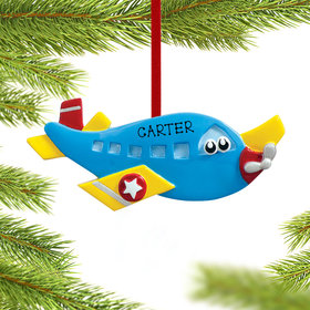 Airplane with Eyes Ornament