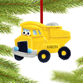 Dump Truck with Eyes Ornament