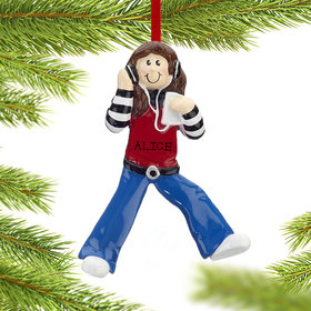 Chillin' Out Girl Ornament